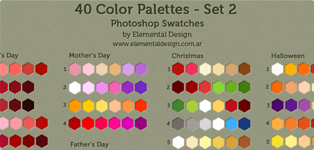 40 color swatches - SET 2