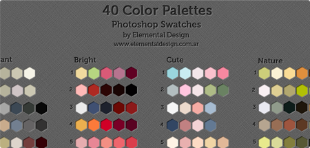 40 color swatches