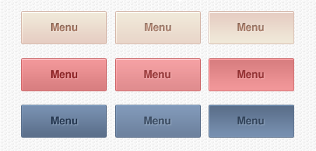 Gradient. Web Buttons