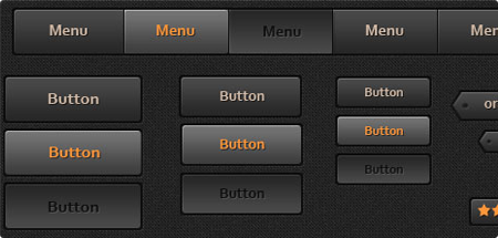Dark Orange UI Web Kit v1.0